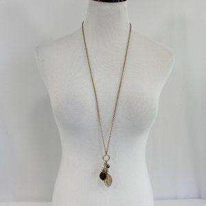 Lia Sophia Gold Tone Necklace 2-in-1 Long & Short